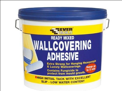 Everbuild WALLRD4 Ready Mixed Wallcovering Adhesive 4.5Kg WALLREADY4-EBD B0012T6PTS