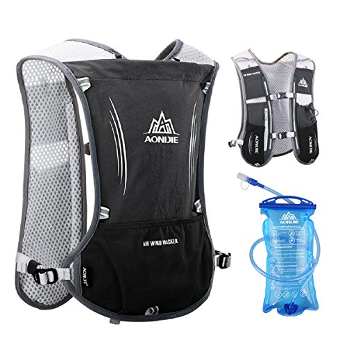 e37a4b20dc TRIWONDER Hydration Pack Backpack 5L Marathoner Running Race Hydration Vest  (Black - with 1.5L