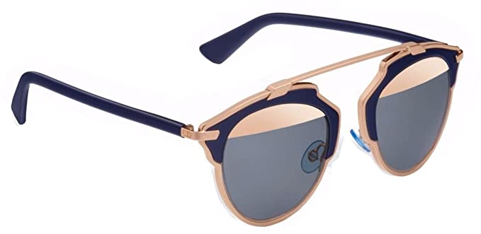 4c8b3387688ca Image Unavailable. Image not available for. Color  New Christian Dior SO  REAL U5W ZJ rose gold blue blue ...