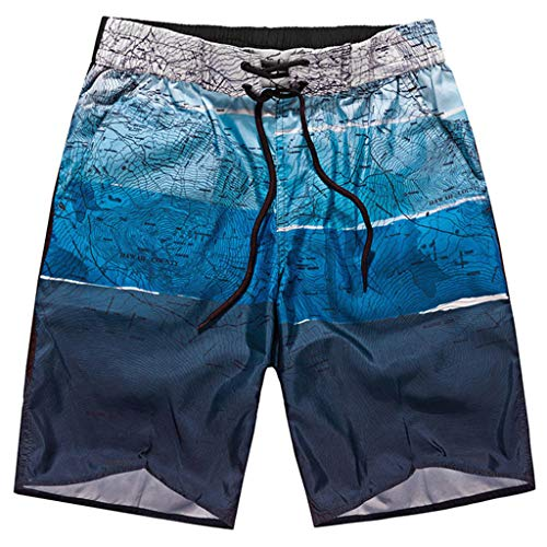 9955d06d4a wodceeke Elastic Sweatpants, Men Summer Shorts Sports Work Casual Printed  Beach Shorts Pants Trousers (