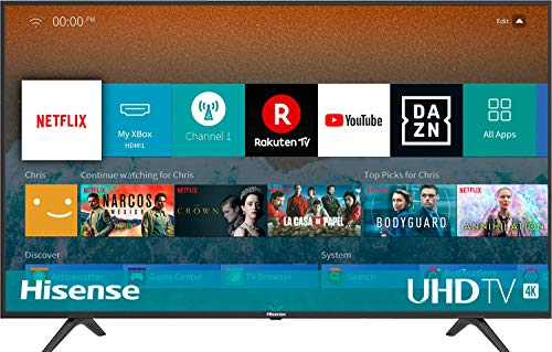 🥇 Hisense H43BE7000 – Smart TV ULED 43′ 4K Ultra HD con Alexa Integrada