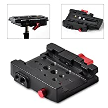 Fomito Universal Compatible Tripod Camera Rapid Connect Adapter Mount Kit with Quick Release Plate