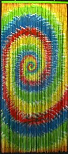 Tie Dye Beaded Curtain 125 Strands Hanging