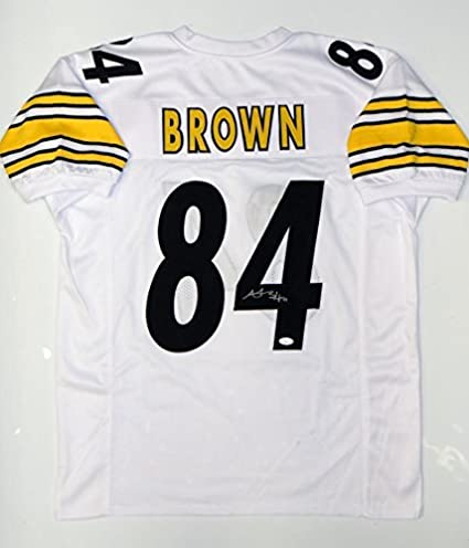 b87eb7f62 Antonio Brown Signed Jersey - White Pro Style Witnessed Auth - JSA ...