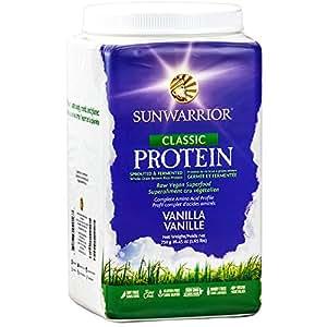Sunwarrior - Classic Protein, Raw Wholegrain Brown Rice, Vanilla, 750 g