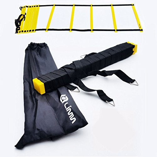 Limm Agility Ladder with BONUS Carry Bag – Flat Rung, Durable, Multi-Sport Training Tool – For High Intensity Footwork, Speed and Agility Training (12 Rung)
