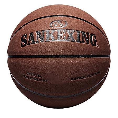 MYLL 1Leder, offizielle Größe 7Basketball Indoor Outdoor Sport Rutschfest Ball MYLL 1Leder dunkelbraun standard ball