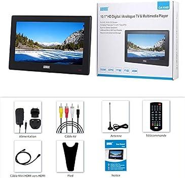 "Televisión Portátil TDT HD 10"" DVB-T & DVB-T2 August DA100D ..."