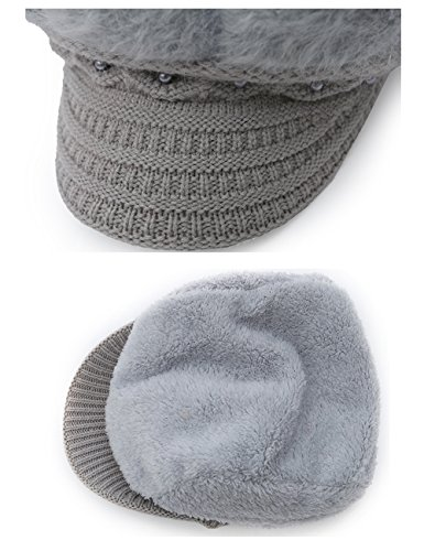 Epsion Women Winter Knit Crochet Newsboy Caps Lady Warm Pearl Knit Beanie Hat by Epsion (Image #2)