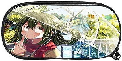 Estuche de lápices con tema de personaje de anime Estuche de gran capacidad Estuche de lona con cremallera Estuche de almacenamiento impermeable Estuche de lápices Anime D 12: Amazon.es: Oficina y papelería