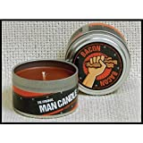 """The Original Man Candle Bacon 2.75"""" Tin with 3oz Candle"""