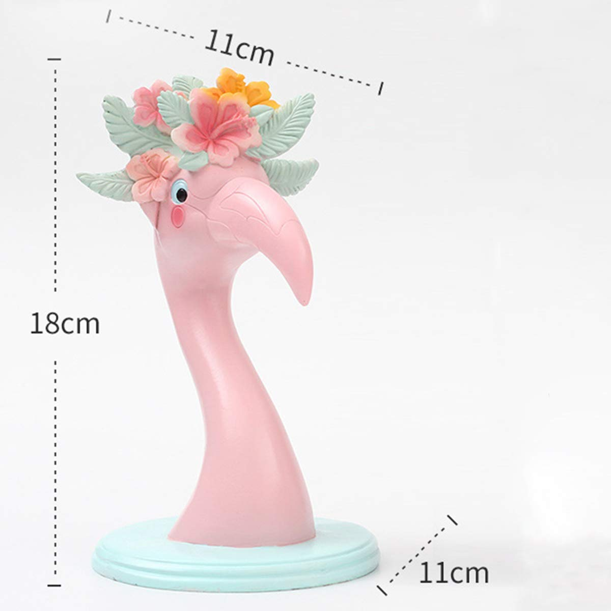 YeahiBaby Pink Flamingo Ornaments Eyeglass Display Holder Glasses Display Shelves Love Bird Flamingo Figurine Statues Home Office Desktop Decoration by YeahiBaby (Image #3)