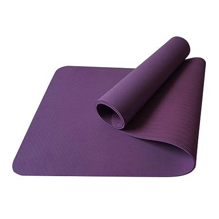 Estera de Yoga Esterilla de Yoga Slip 8 Mm. Goma Gruesa ...