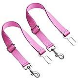 2 Packs – Adjustable Pet Dog Cat Car Seat Belt Safety Leash Vehicle Seat Belt Harness (Pink)    For Sale