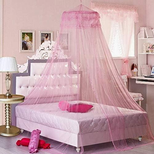 Julymall Kids Baby Bed Luifel Bed Cover Klamboe Gordijn Beddengoed Koepel Tent Katoen Roze Wit Grijs Roze2 152m