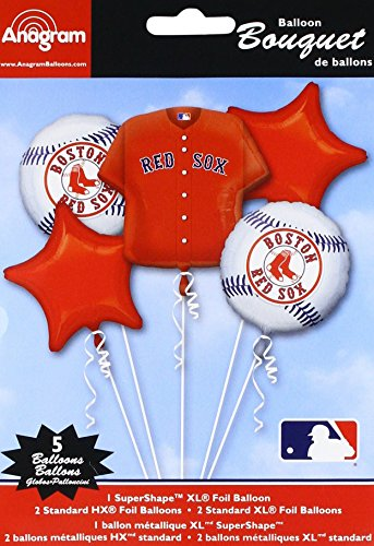 Anagram 32038 Boston Red Sox Balloon Bouquet, Multicolored -