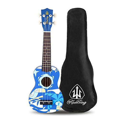 honsing-soprano-ukulele-with-gig-bag-new-basswood-soprano-uke-hawaii-guitar-21-blue-pattern