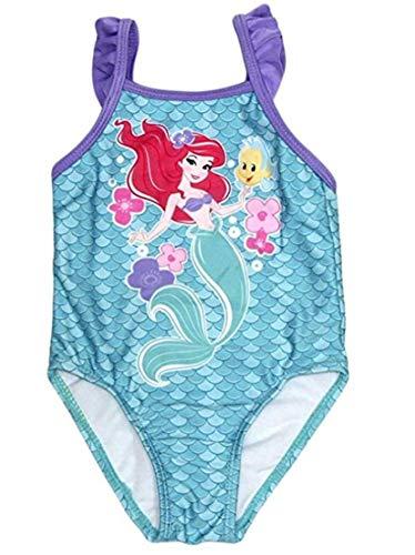 (Disney Little Mermaid Princess Ariel 1 Piece Baby Girls Swimsuit (Flounder Flower, 3/6 Months))