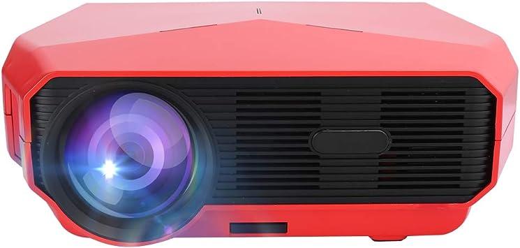 Opinión sobre A4300 Pro HD 4K Proyector Portátil de Videos, 1280 x 720 Alta Resolución ANSI 4600lm, 45-200 Pulgadas Rango de Proyección, Proyector Multifuncional Compatible con la Repeoducción en 3D, Rojo(rojo)