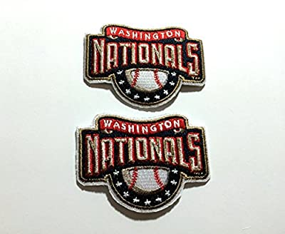 2 Washington Nationals Embroidered iron on patches set ships from PA, USA