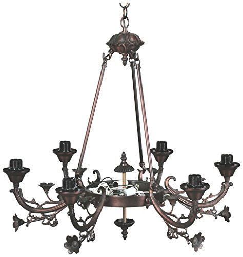 Meyda Tiffany 26179 Victorian 6 Arm Chandelier, 26