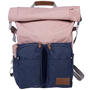 Renwick Roll Top Backpack with Laptop Sleeve and Chord Organizer (Pink)