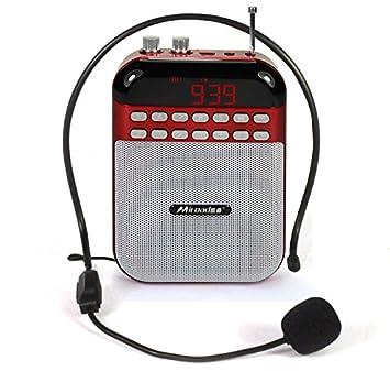 Miroad batería amplificador de la voz TF tarjeta enseñanza grabadora de voz portátil cintura micrófono amplificador