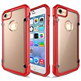 """for iPhone 7 Case QAenly Unicorn Series Creative Premium Hybrid Protective Slim Clear Case for iPhone 7 4.7"""" Red"""