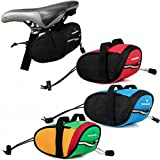 Cycling Mountain Bike Bicycle Saddle Bag Back Seat Rack Pack Tail Front Tube Pou ( Green )