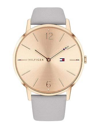 b2dad5191bfa Tommy Hilfiger Reloj Analógico para Mujer de Cuarzo con Correa en Cuero  1781975  Amazon.es  Relojes