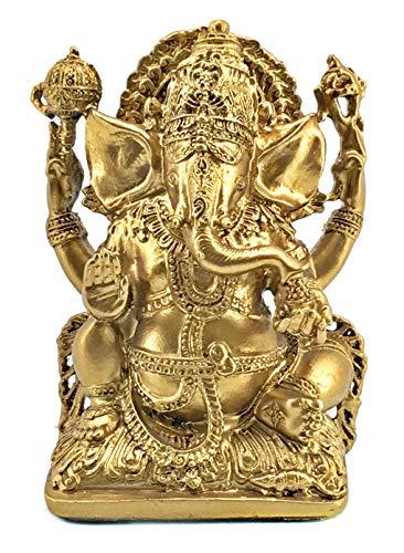 Bellaa 20171 Ganesh Ganesha Beautiful Statues Hindu Good Luck God Antiques inished