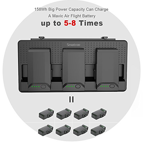 Smatree Portable Charging Station Compatiable for DJI Mavic Air Battery, 158Wh Rechargeable Power Bank Batteries Charger(Charge 3 Mavic Air Batteries Simultaneous and up to 5-8 Mavic Air Batteries by Smatree (Image #1)
