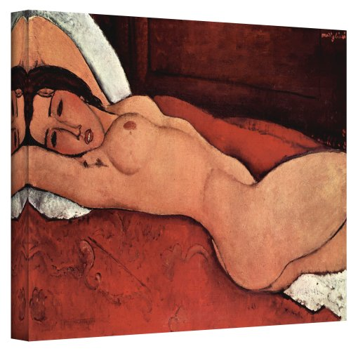 Art Wall Portrait of a Nude Gallery Wrapped Canvas Art by Amedeo Modigliani, 14 by 24-Inch