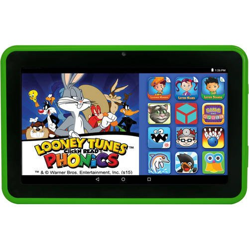 """Price comparison product image Click N Kids 7"""" 16GB EPIK Learning Tab for Kids with Intel Quad Core Processor - Green"""