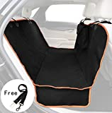 Pet Seat Cover for Cars - Black Waterproof Nonslip Hammock Style Dog Back Seat Cushion for Truck SUV Van Auto Vehicle (black)