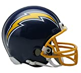 San Diego Chargers 1974-87 Throwback NFL Riddell Replica Mini Helmet