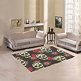 Happy More Custom Mexican Skulls Area Rug Indoor/Outdoor Decorative Floor Rug