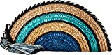 Rebecca Minkoff Women's Straw Taco Clutch Blue Multi One Size