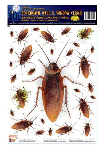 Adult Cockroach Halloween Costumes (Fancy Halloween Party Decorative Horror Bug Cockroach Wall & Window Stickers)