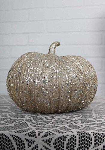 Authentic Costumes Halo (8 Inch Champagne Glitter Pumpkin)
