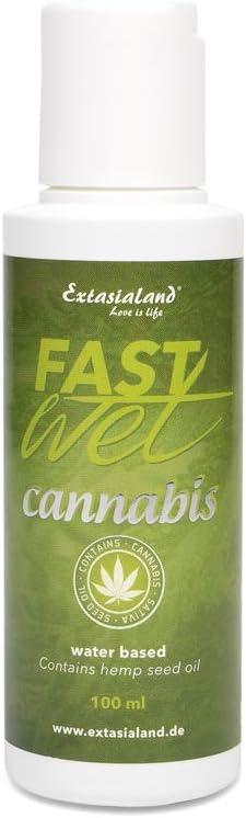 Extasialand Fastwet Cannabis gel lubricante 100 ml lubricante a base de agua con Sativa aceite de semilla de cáñamo water based lube