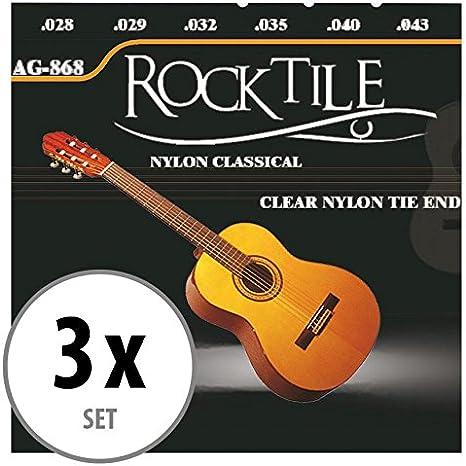 Rocktile cuerdas para guitarra clásica pack de 3: Amazon.es: Instrumentos musicales