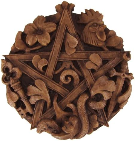 Dryad Design Cimaruta Pentacle Wall Plaque Wood Finish