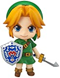 From Good Smile. From the game The Legend of Zelda: Majora's Mask 3D comes a Nendoroid of the young hero, Link! He comes with both his standard smiling expression as well as a shouting expression for combat poses! He also comes with an assort...