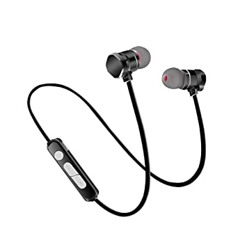 zeato auriculares inalámbricos, Bluetooth V4.1 Auriculares estéreo ligeros auriculares con conexión magnética,