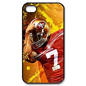 NFL San Francisco 49ers Colin Kaepernick Iphone 4/4S Case Durable Case Cover-black&white
