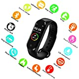 SBA999 ABM412 M4 Bluetooth Wireless Smart Fitness Band for Boys/Men/Kids/Women | Sports Watch Compatible with Xiaomi, Oppo, Vivo Mobile Phone | Heart Rate and BP Monitor, Calories Counter
