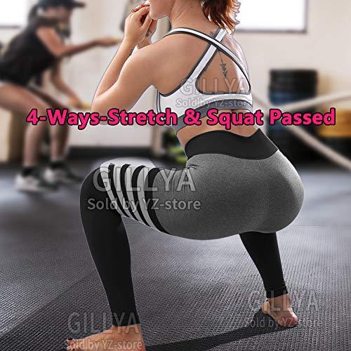 GILLYA High Waist Gym Seamless Leggings Workout Tights for Women Butt Lift Tummy Control Leggings Seamless Yoga Pants 3