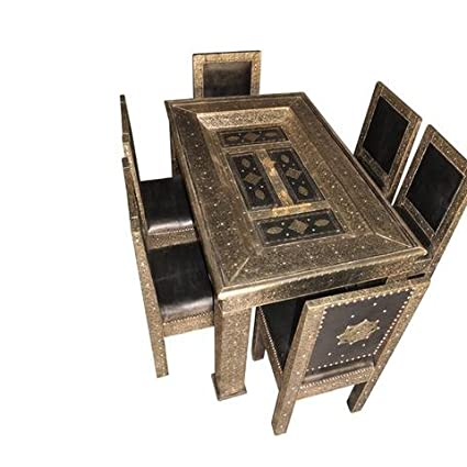 Amazon Com Moroccan Furniture Bazaar Metal And Leather Arabesque