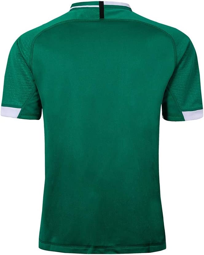 Color : Green, Size : S Pavilion Rugby Jersey Irland Mannschaft 2019 Welt Tasse Zuhause Und Weg Auflage Rugby Atmungsaktiv Hemden